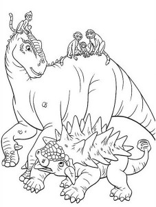 Aladar-and-Lemur-with-Friends-Dinosaur-Coloring-Page (Kopyala)