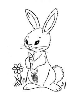 Cute-Easter-Bunny-Eat-Carrot-Coloring-Page (Kopyala)