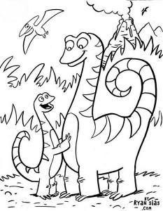 Dinosaurs-Coloring-Page (Kopyala)