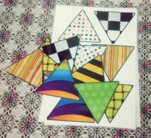 üçgen eşleştirme kartları