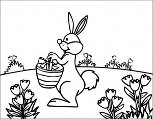 Rabbit-In-The-Garden-Coloring-Page (Kopyala)
