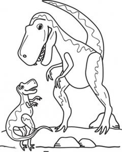 t-rex-family-coloring-page (Kopyala)