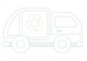 çöp kamyonu boyama çalışması