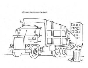 çöp_kamyonu_boyama_fikirleri