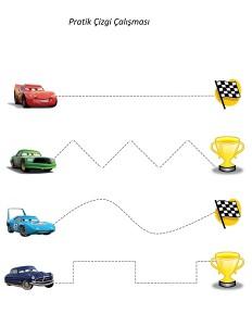 arabalar_çizgi_çalışmaları