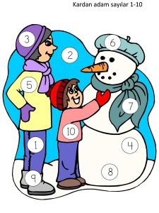 kardan_adam_sayılar_boyama