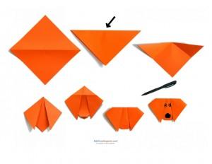kolay_origami_köpek