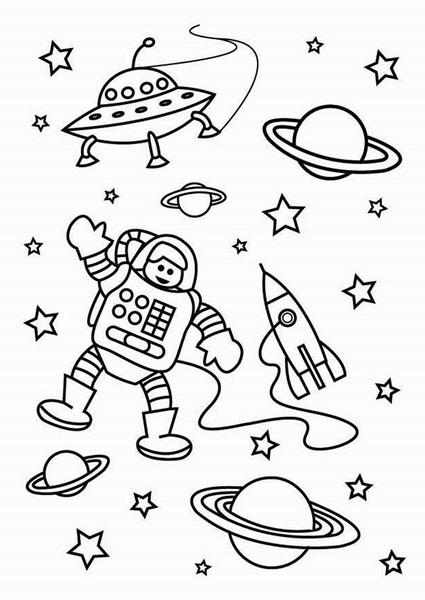 Uzay temal boyama sayfalar evimin alt n topu for Solar eclipse coloring page
