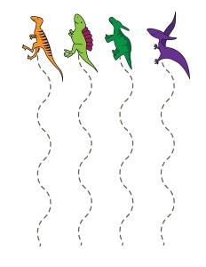 dinozor_çizgi çalışması