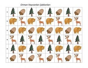 orman_hayvanları_şablon_kartları