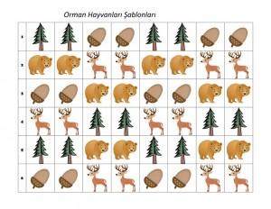 orman_hayvanları_şablonlar