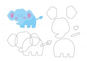 keçeden_hayvanlar_kalıpları_fil