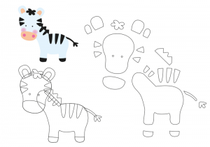 keçeden_hayvanlar_kalıpları_zebra