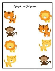 okul_öncesi_hayvanat_bahçesi_eşleştirme_çalışması