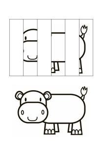 okul_öncesi_puzzle_resim_tamamlama_çalışmaları_su_aygırı