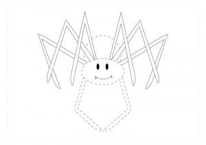 orman_hayvanları_çizgi_tamamlama_çalışmaları_örümcek