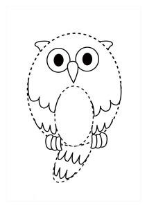 orman_hayvanları_çizgi_tamamlama_çalışmaları_baykuş