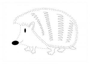 orman_hayvanları_çizgi_tamamlama_çalışmaları_kirpi