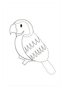 orman_hayvanları_çizgi_tamamlama_çalışmaları_papağan