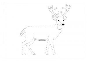 orman_hayvanları_çizgi_tamamlama_çalışmaları_ren_geyiği