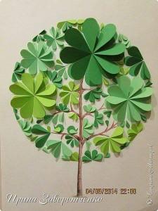 daire_kağıtlardan_ağaç_yapımı