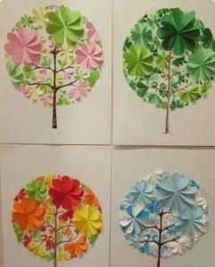 daire_kağıtlardan_harika_ağaçlar