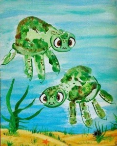 el_ayak_baskı_kaplumbağa