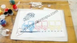 okul_öncesi_kulak_çöpü_ile_boyama_çalışması