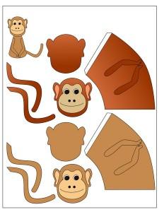okul_öncesi_maymun_parmak_kukla_kalıbı