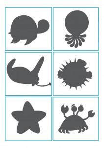 okyanus_hayvanları_gölge_eşleştirme_çalışması
