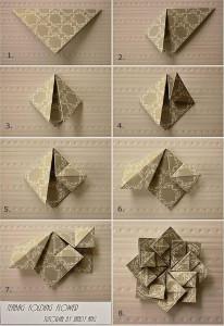 origami_çiçek_yapma