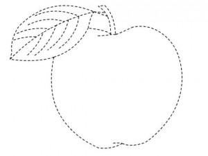 resimlerle_çizgi_çalışması_elma