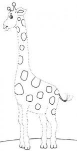 resimlerle_çizgi_çalışması_zürafa