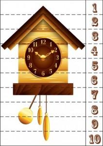 çalar saat sayı puzzle