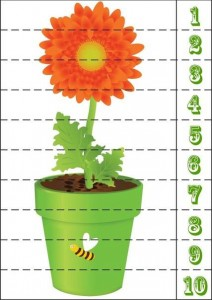 çiçek sayı puzzle
