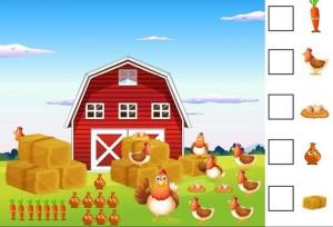 çiftlik matematik etkinlikleri