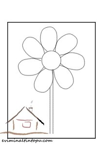 şekiller_çizgi_tamamlama_çiçek