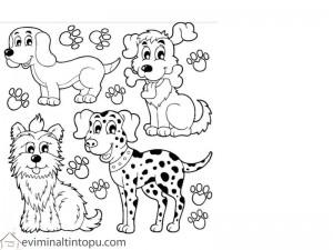 şirin köpekler boyama çalışması