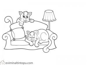 şirin kediler boyama çalışması