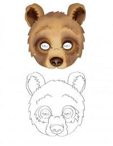 ayı maskesi kalıbı