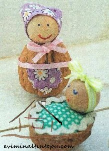 cevizden oyuncak bebek yapımı