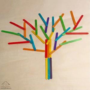 dil çubuklarından ağaç
