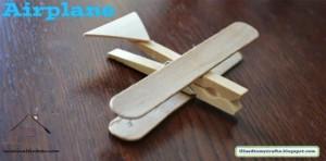 dil çubuklarından uçak yapımı