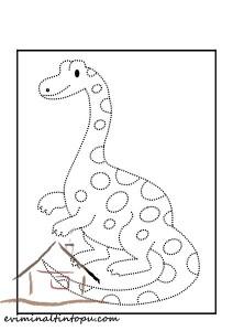 dinozor_çizgi_çalışması
