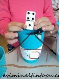 domino taşları ile matematik etkinliği