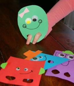 eğitici oyun ve oyuncaklar şekil çalışması
