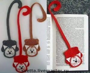 el örgüsü kitap ayraçları kedi
