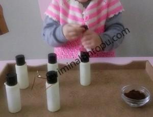 evde hazırlanabilecek montessori duyu materyalleri