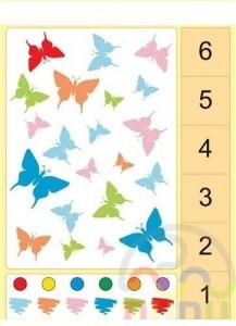 görsel sayı etkinliği kelebek