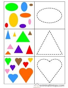 geometrik şekilleri öğreniyorum